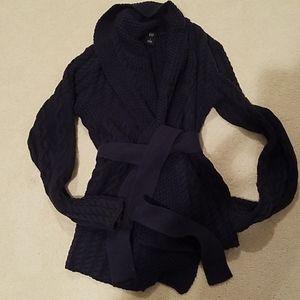 GAP Navy Chunky Wrap Sweater Sz S